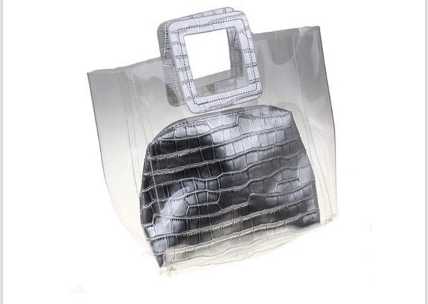 Sophia Transparent Silver Bag - Glamour Manor