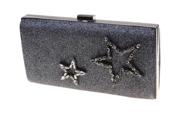 Star Struck Gun Metal Clutch - Glamour Manor