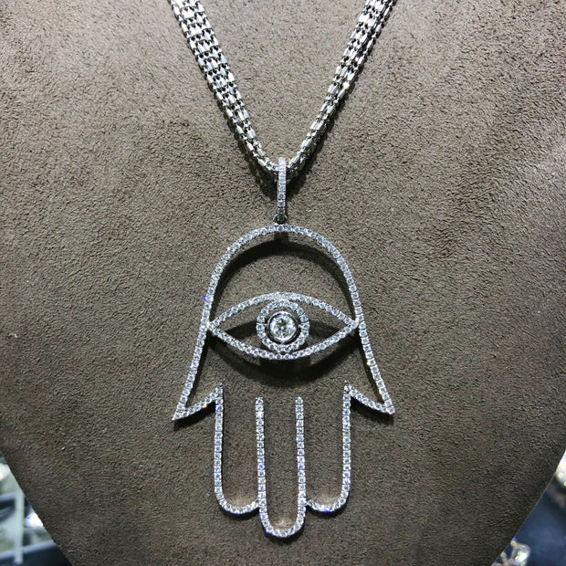 Hamsa Diamond Pendant - Glamour Manor