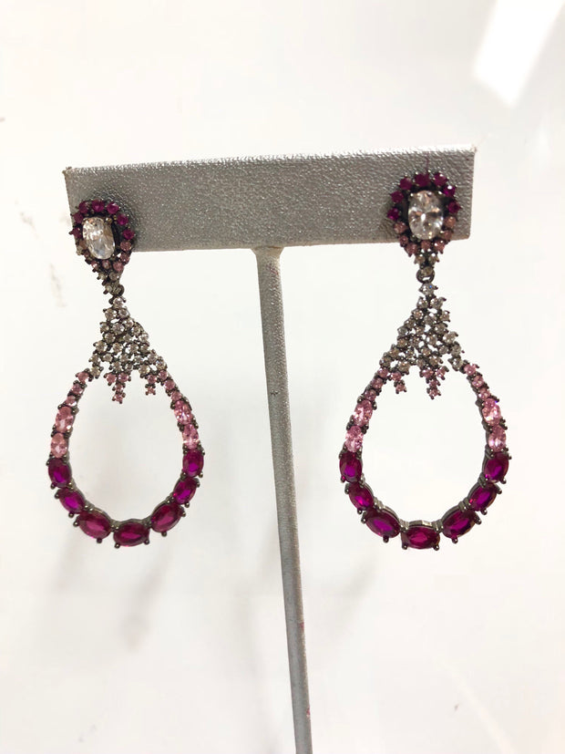 Pink Statement Earrings - Glamour Manor