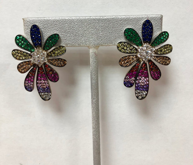 Rainbow Flower Earrings - Glamour Manor