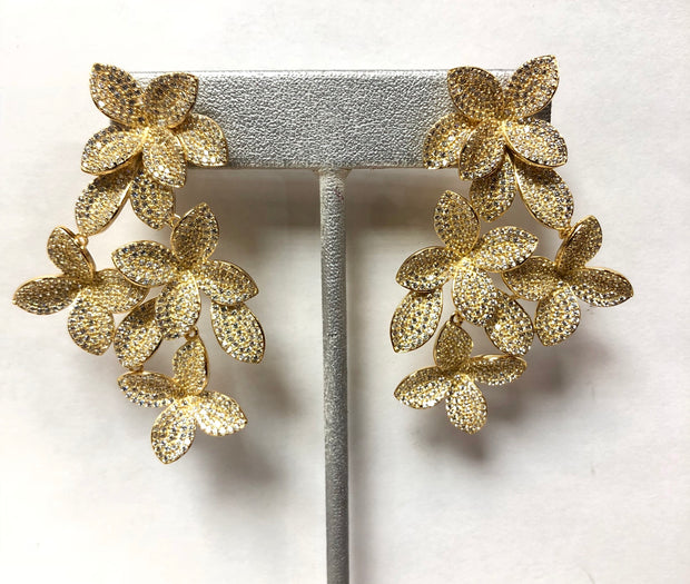 Flower Statement Earrings - Glamour Manor