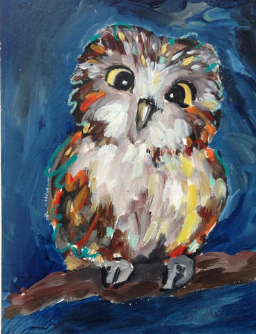 Saturday, the Saw Whet Owl
