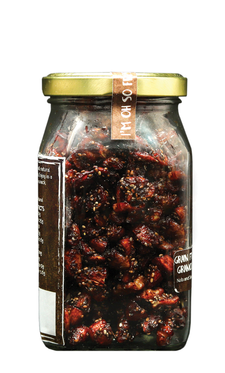 My Moms Cacao Orange Granola, Glass Jar 200 gms