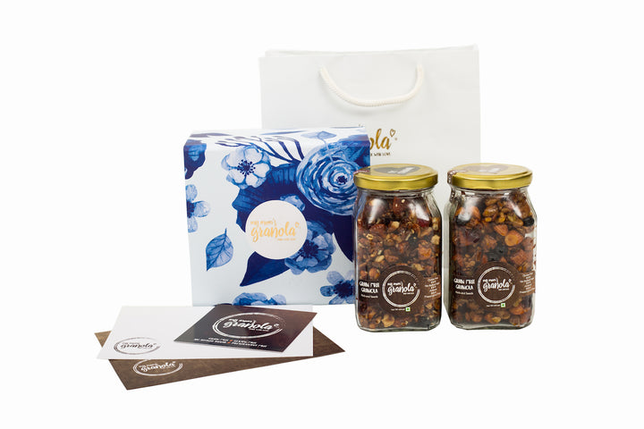 My Moms Granola Floral Gift Box, 2 Jars x 200 gms each.