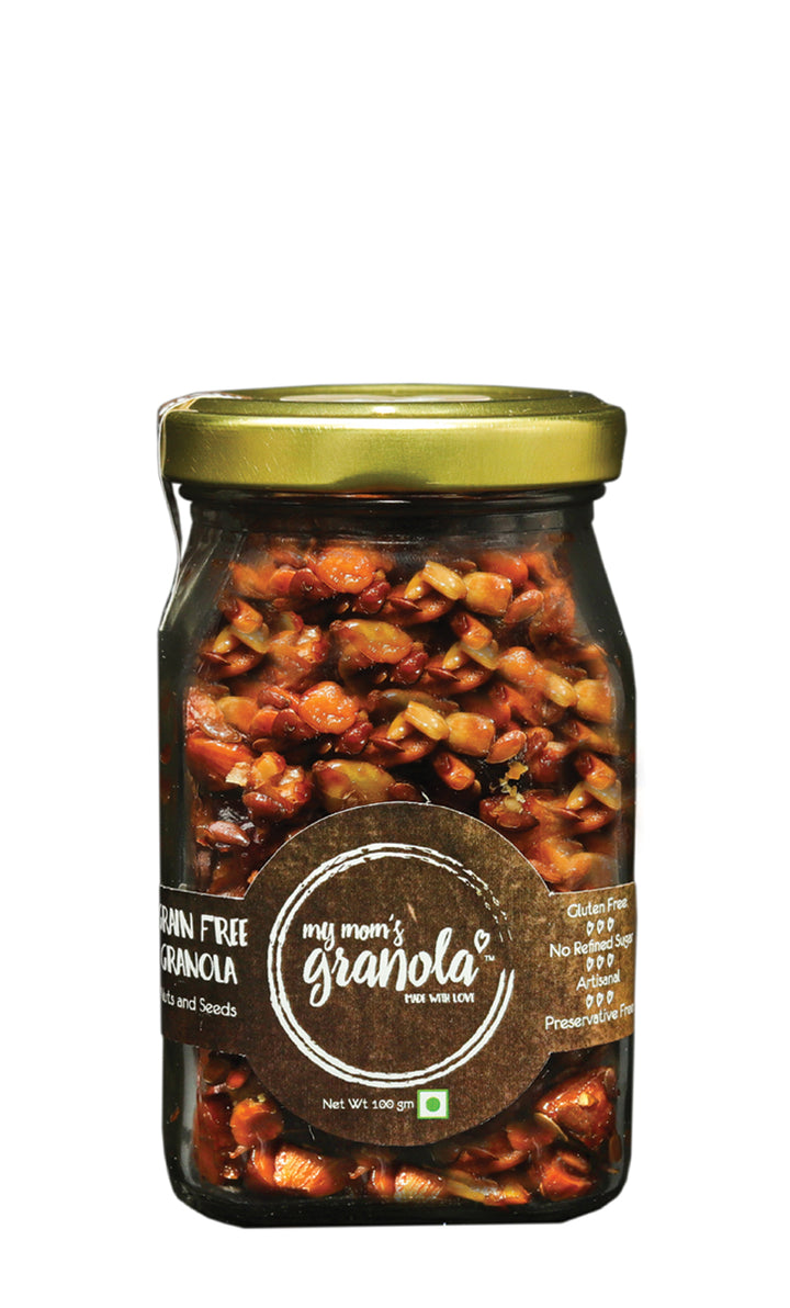 My Mom's Vegan Granola, Glass Jar 100 gms