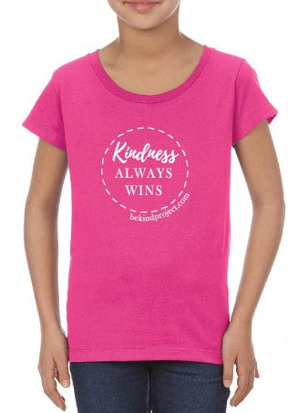 Kindness Always Wins Girls Fitted Tee