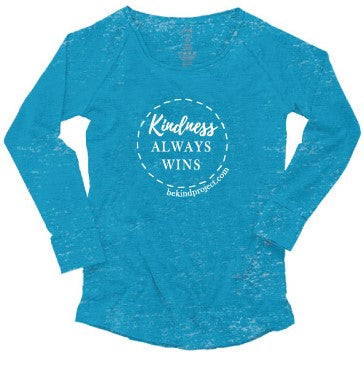 Kindness Always Wins Ladies Long-Sleeve Burnout Tee