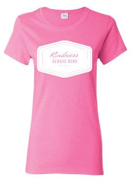 Kindness Always Wins Ladies Semi-Fitted Tee