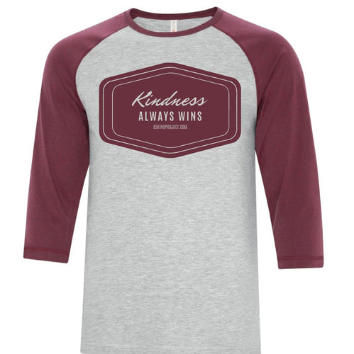 Kindness Always Wins Unisex Baseball Tee