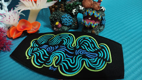 Watakala - Giant Clam Mask Strap - Embroidered