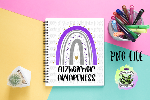 Alzheimer Awareness Rainbow - Digital
