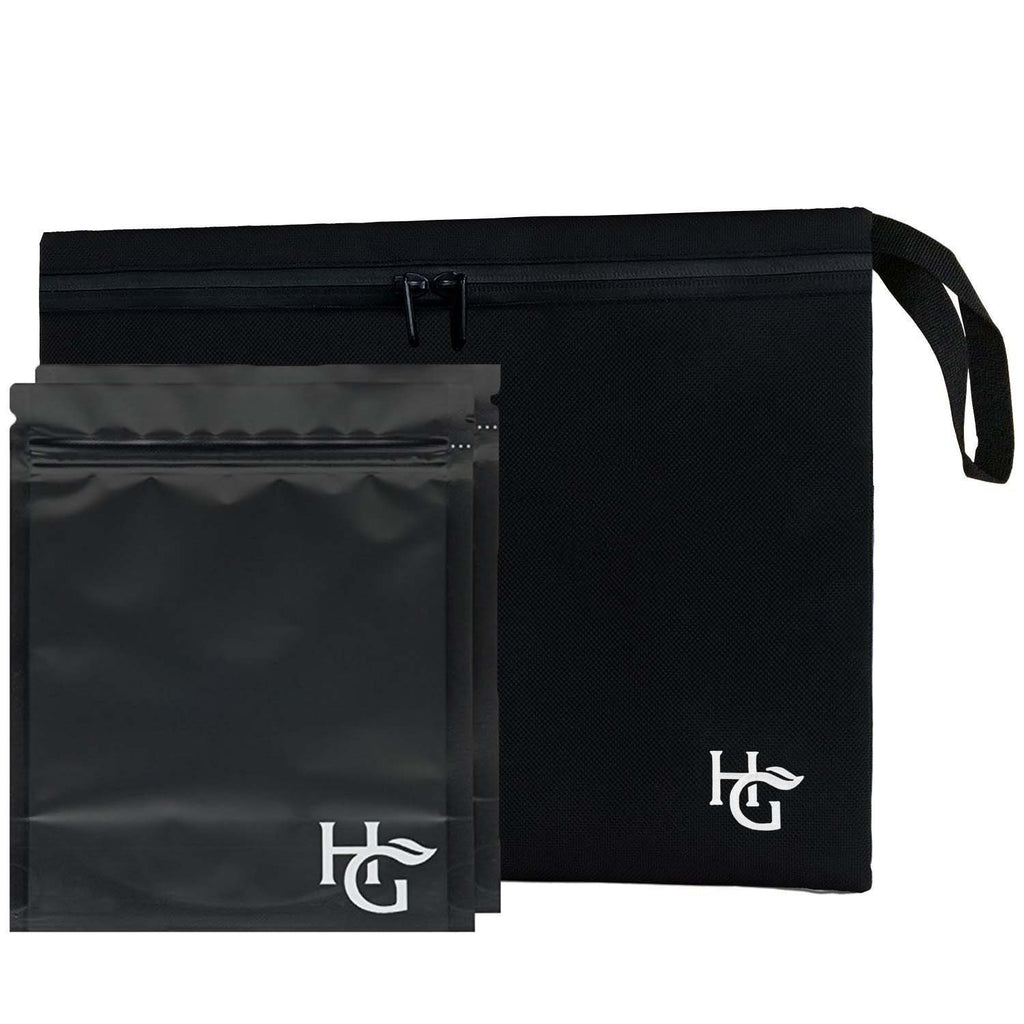 Large Premium Smell Proof Bag (12x10 inches, Holds 3 Ounces) - Comes with 2 Large Resealable Travel Bags