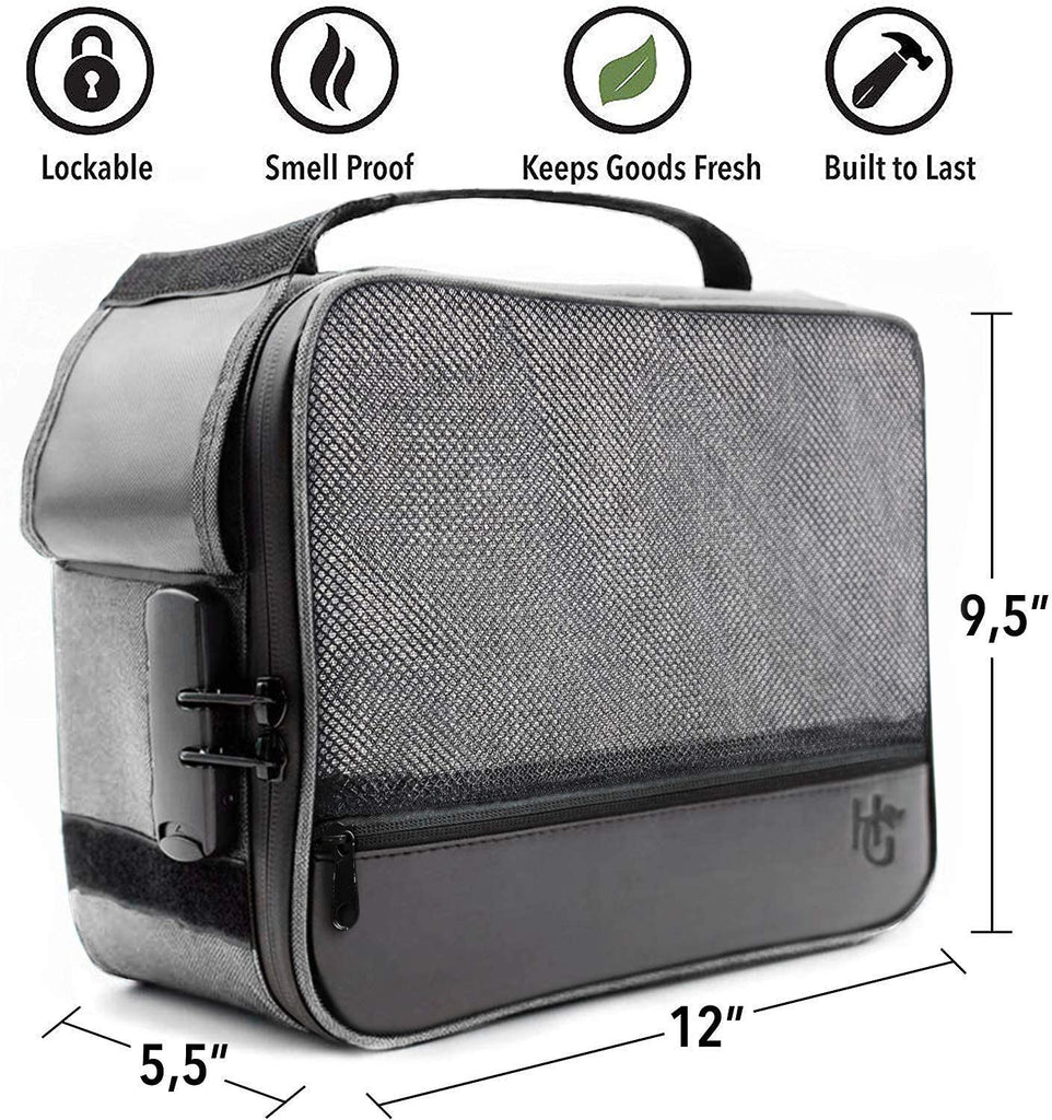 Extra Large Smell Proof Case with Combination Lock (Grey)