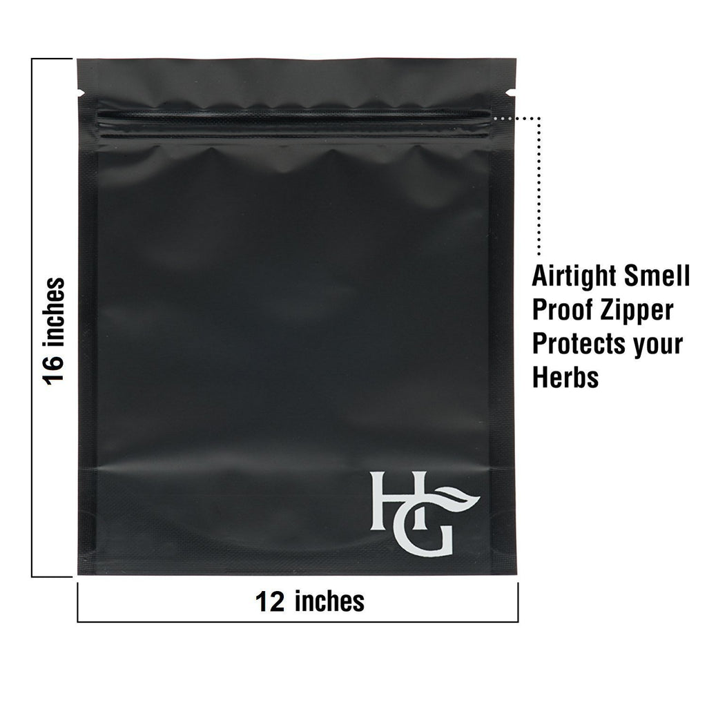 Extra Large Smell Proof Bags 12x16 inches  (Pack of 10)