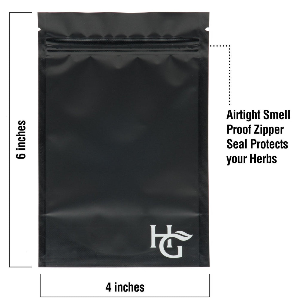 Medium Smell Proof Storage Bags  -  4 x 6 Inches (Pack of 25)