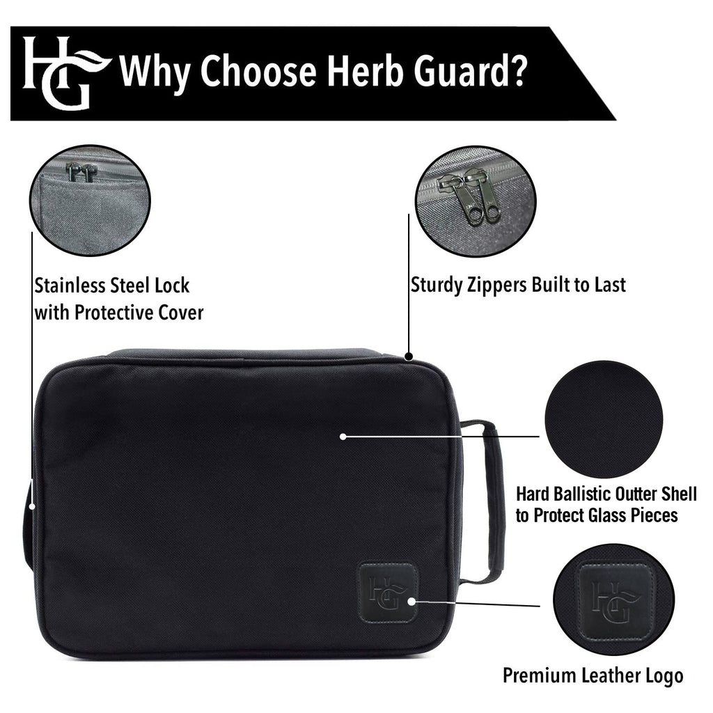 Wanderlust Smell Proof Travel Bag with Combo Lock