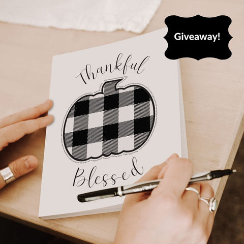Hidden Blessings Decor and Gifts Buffalo Check Journal Giveaway