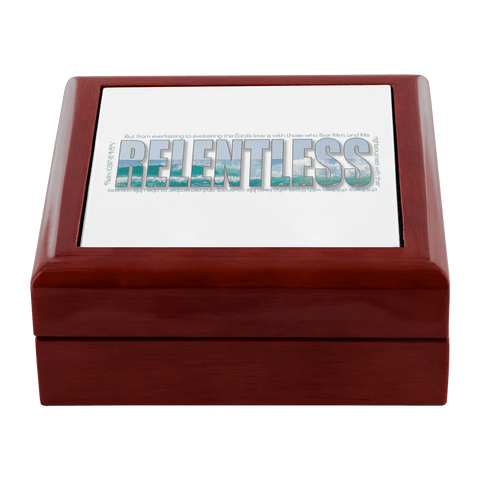 Hidden Blessings Decor prayer box with Relentless design