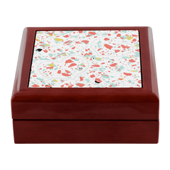 Coral terrazzo prayer box with Jeremiah 29:11 Bible verse
