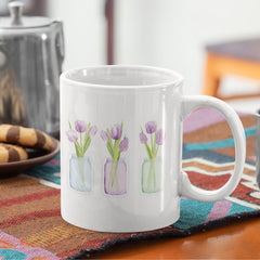 Coffee Mug with Tulips | Hidden Blessings