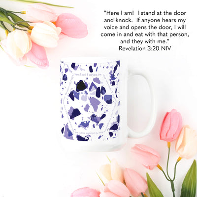 Mug with Violet Terrazzo Design