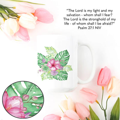 15oz Mug with Tropical Design