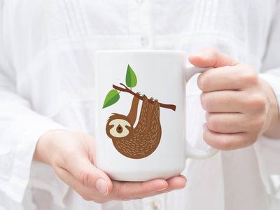 Mug with Sloth Design
