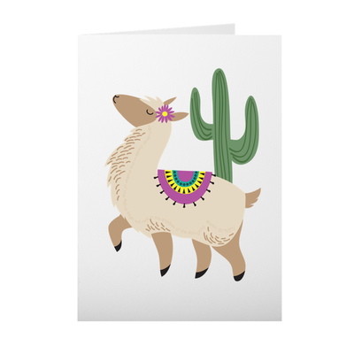 Greeting Cards with Alpaca Design