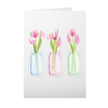Greeting Card with Pink Tulip Design