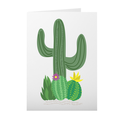 Greeting Card with Cactus Design
