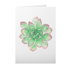 Greeting Card with Green Succulent Design