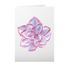 Greeting Card with Purple Succulent Design