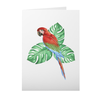 Greeting Card with Tropical Bird Design