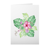 Greeting Card with Tropical Bouquet Design
