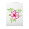 Greeting Card with Tropical Flower Design