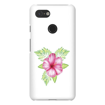 Android Phone Case with Tropical Flower Design and Hidden Bible Verse
