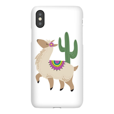 Apple iPhone Case with Alpaca Design and Bible Verse