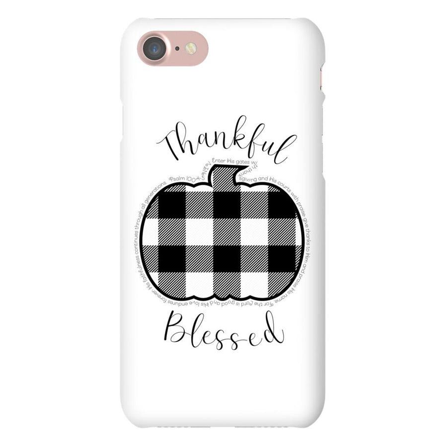 Apple iPhone Case with Buffalo Check Pumpkin