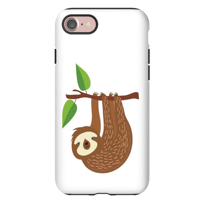 Apple iPhone Case with Sloth Design and Bible Verse