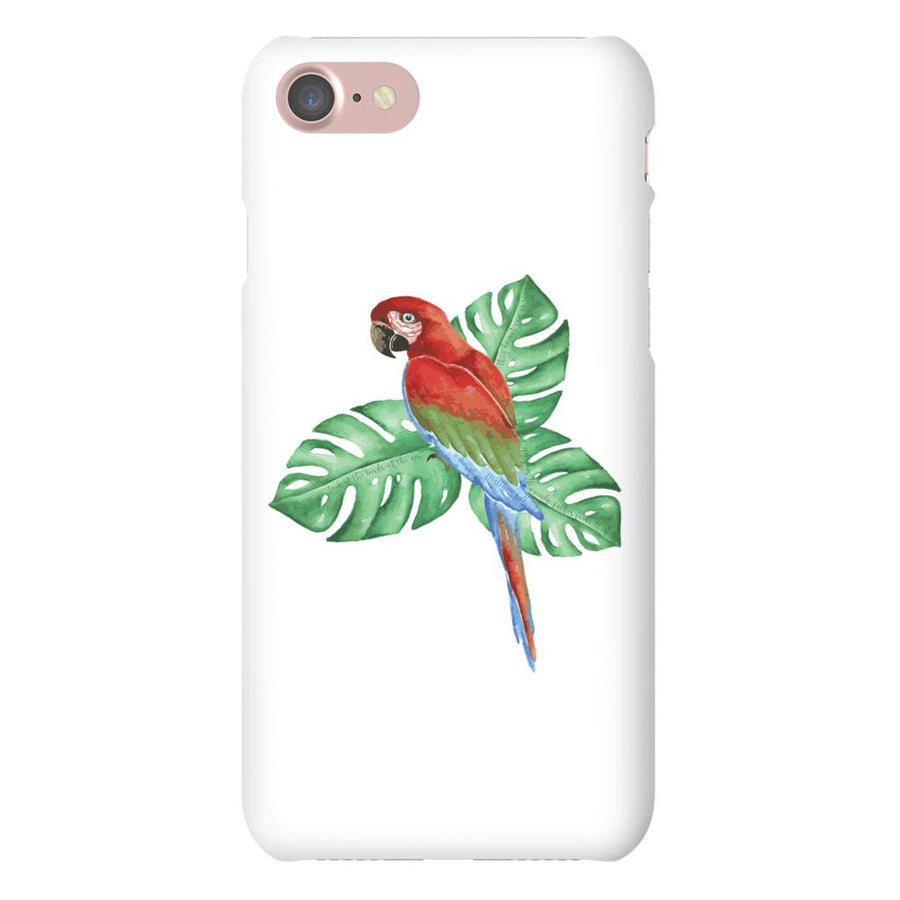 Apple iPhone Case with Tropical Bird and Bible Verse