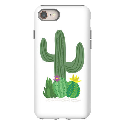Apple iPhone Case with Cactus Design and Hidden Bible Verse