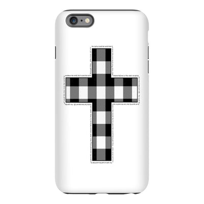 Apple iPhone Case with Buffalo Cross Design