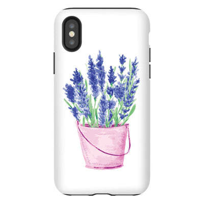 Apple iPhone Case with Lavender Design