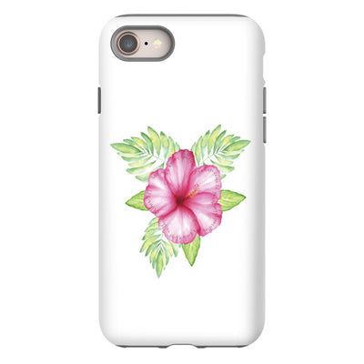 Apple iPhone Case with Tropical Flower Design and Hidden Bible Verse