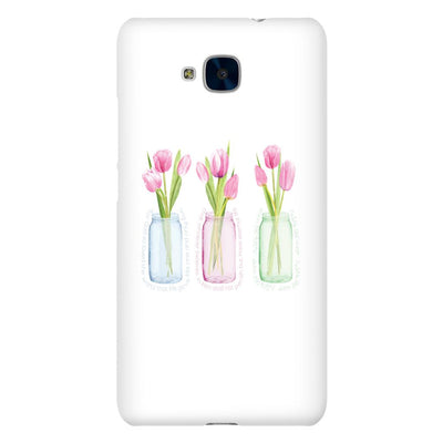 Android Case with Pink Tulips and Hidden Bible Verse