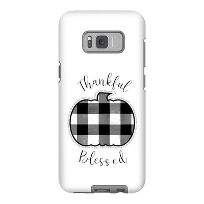 Android Cell Phone Case with Buffalo Check Pumpkin