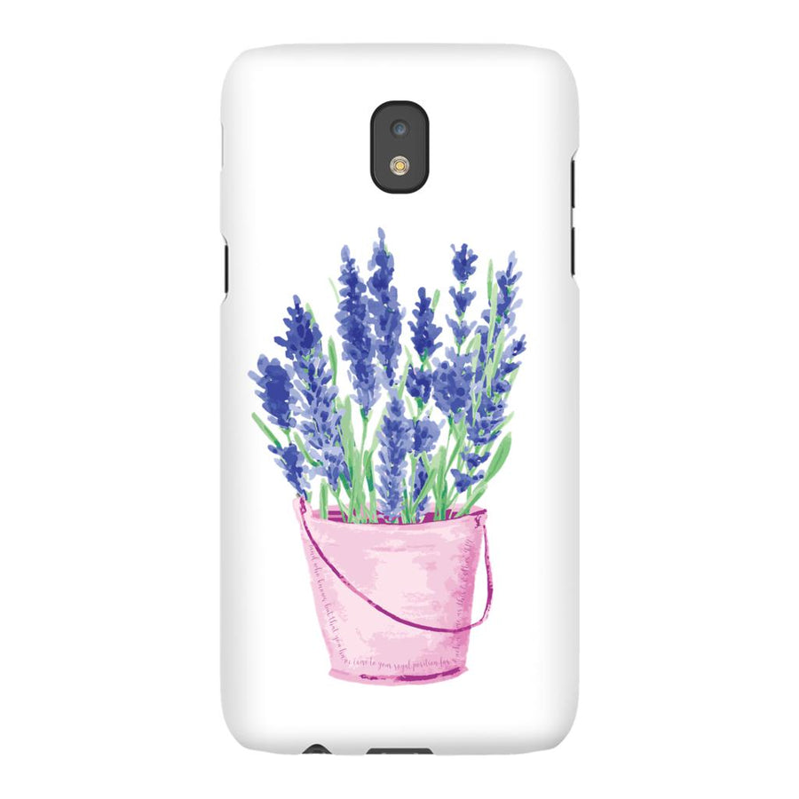 Android Cell Phone Case with Lavender Design
