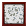 Prayer Box with Olive Green Terrazzo Design