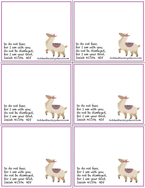 Alpaca Blessing Cards Download